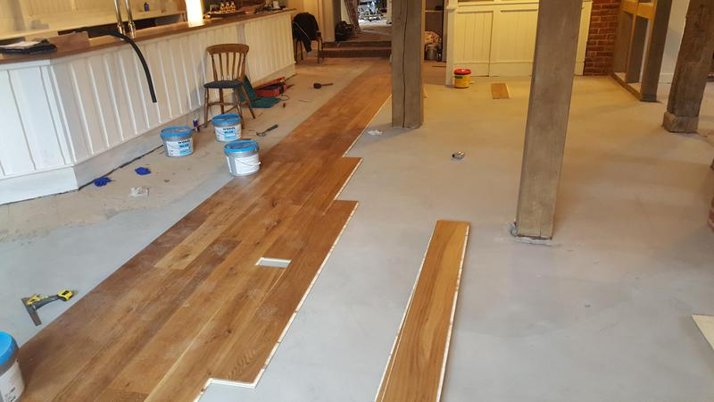 Image 11 - Kahrs Engineered wood flooring Supplied and fitted to The Grantley Arms Pub in Wonnersh