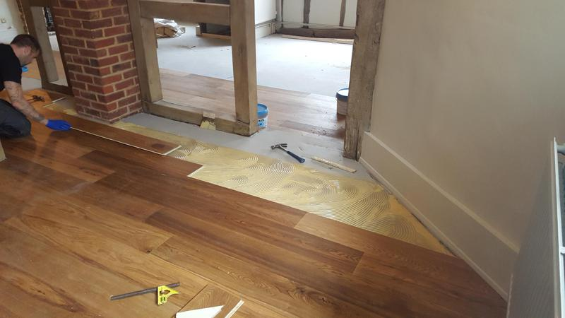 Image 15 - Kahrs Engineered wood flooring Supplied and fitted to The Grantley Arms Pub in Wonnersh
