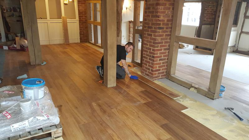 Image 16 - Kahrs Engineered wood flooring Supplied and fitted to The Grantley Arms Pub in Wonnersh