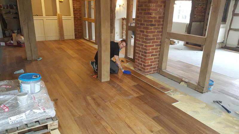 Image 17 - Kahrs Engineered wood flooring Supplied and fitted to The Grantley Arms Pub in Wonnersh