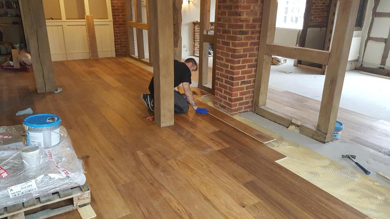Image 18 - Kahrs Engineered wood flooring Supplied and fitted to The Grantley Arms Pub in Wonnersh