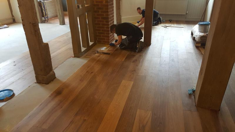 Image 20 - Kahrs Engineered wood flooring Supplied and fitted to The Grantley Arms Pub in Wonnersh