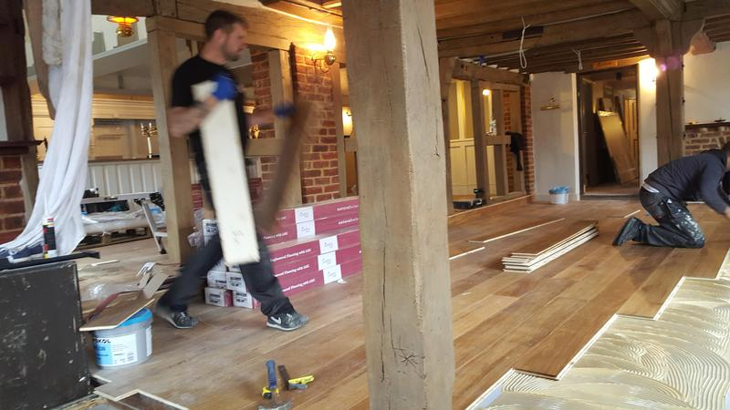 Image 26 - Kahrs Engineered wood flooring Supplied and fitted to The Grantley Arms Pub in Wonnersh
