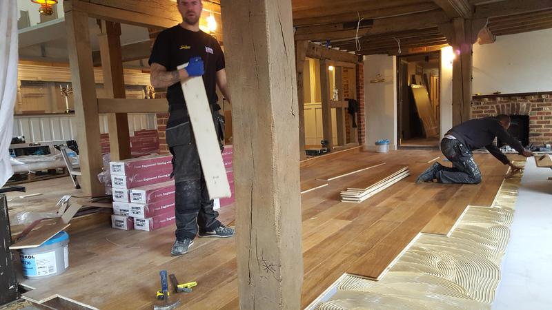 Image 27 - Kahrs Engineered wood flooring Supplied and fitted to The Grantley Arms Pub in Wonnersh