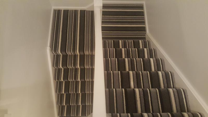 Image 58 - Striped carpet supplied and installed to Hall, stairs and landing in Guildford