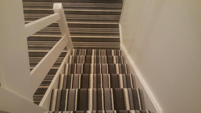 Image 59 - Striped carpet supplied and installed to Hall, stairs and landing in Guildford