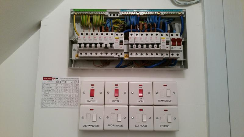 Image 3 - Upgrading consumer units to 17th Editon RCD protected. Post EICR report to bring up to current standards