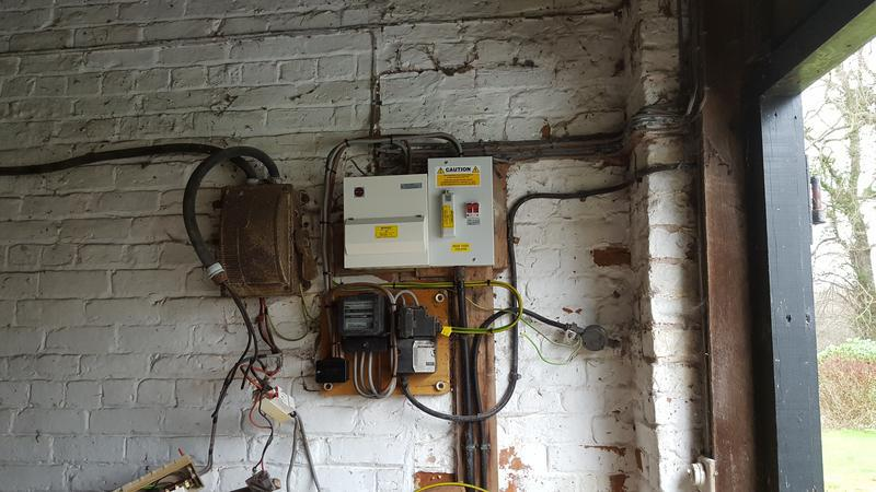 Image 1 - Mains board swap finished tested and power back on for the tradesman back on site, now for stripping back the old parts of the installation.