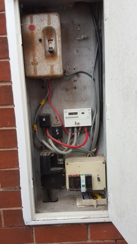 Image 11 - A good example turning up to a job to fit an outside light and not being able to carry out the work as the circuit i was working on was not up to current regs/safe. An old re wireable consumer unit with an electric shower on it too, with no rcd present that is propbably a worst case sinario. we are doing an electrical condition report and going from there to carry out remidial works. Its also worth noting this was not picked up on a house buyers home improvement report which was carried out a month before.
