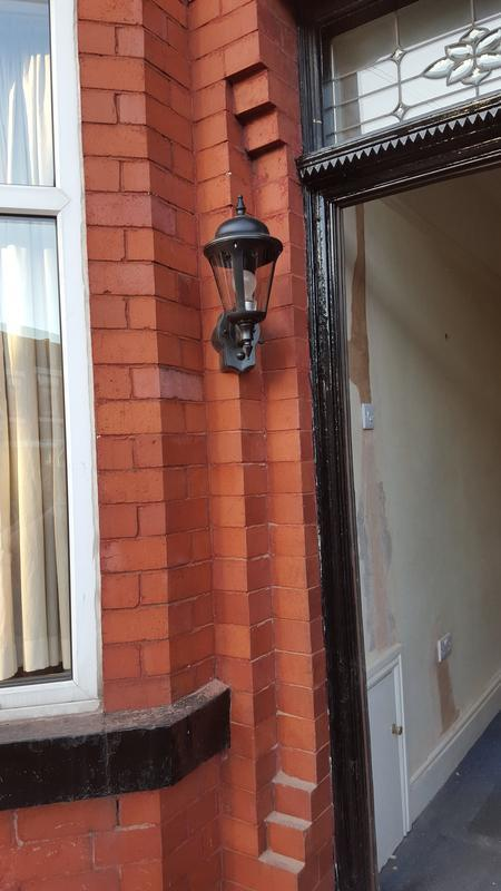 Image 13 - We struggled with this doorway to add a nice feature lantern with limited room, but with persistence and a few phone calls to the wholesalers that have great back up we came up with a corner lantern to suit.