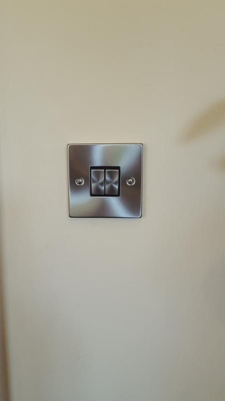 Image 16 - Again a lovely brushed chrome face plate by click, they are a quality product you can tell visualy and by the action of the switch, we always try and use trusted quality brands.