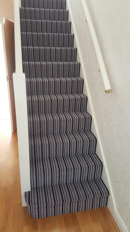 Image 60 - Westex Striped Carpet supplied and Fitted in Reading