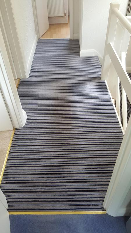 Image 61 - Westex Striped Carpet supplied and Fitted in Reading