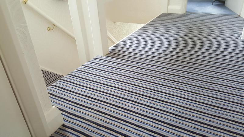 Image 63 - Westex Striped Carpet supplied and Fitted in Reading