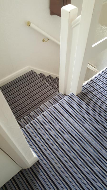 Image 64 - Westex Striped Carpet supplied and Fitted in Reading