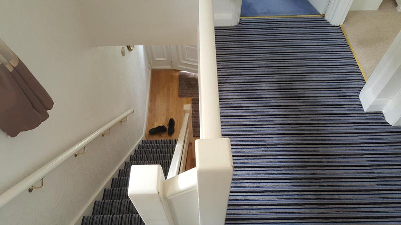 Image 65 - Westex Striped Carpet supplied and Fitted in Reading