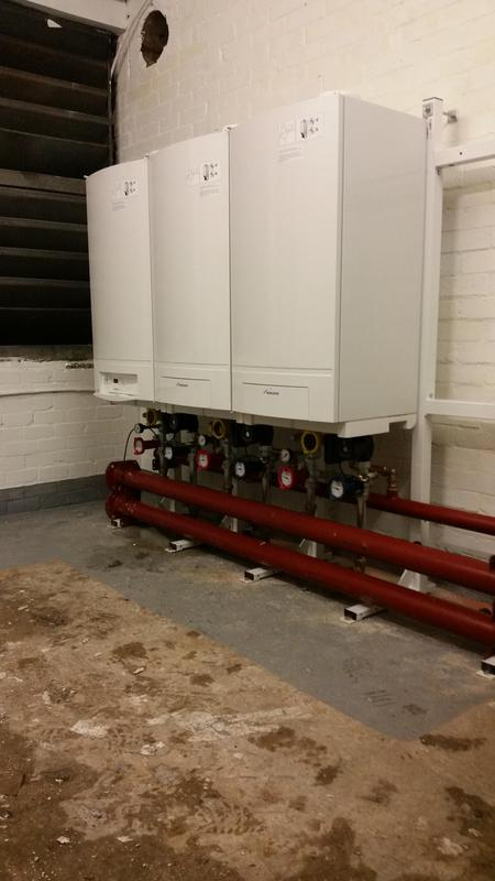 Image 17 - New plant room at a block of flats in Swiss Cottage London
