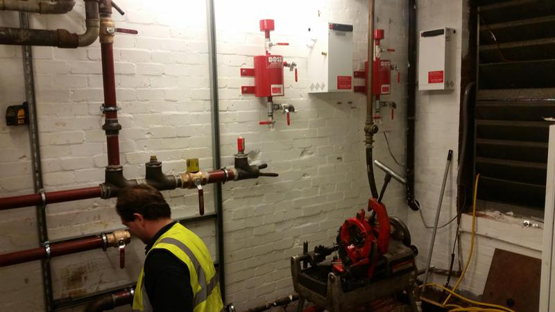 Image 16 - New plant room at a block of flats in Swiss Cottage London