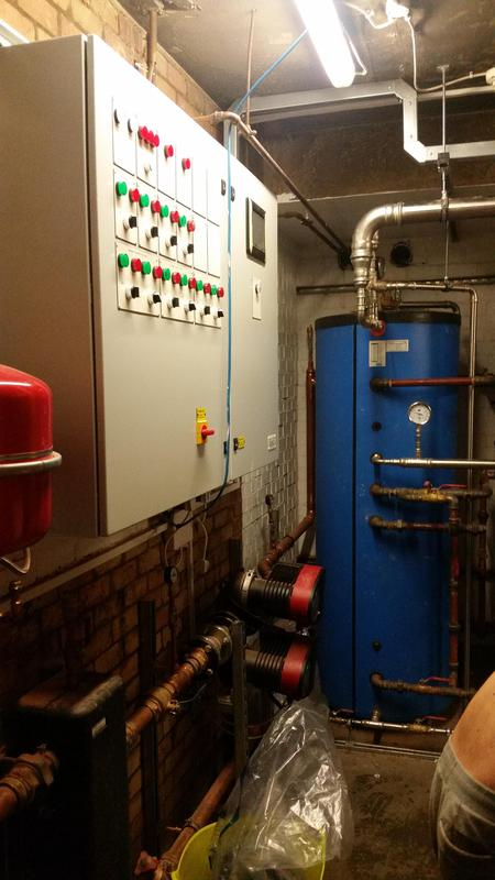 Image 15 - New plant room at a block of flats in Swiss Cottage London - BMS Control Panel