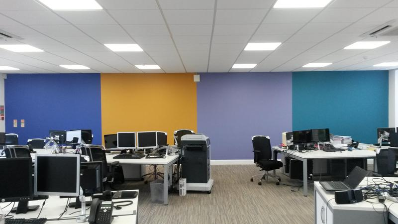 Image 98 - feature wall in Chessington stationery suppliers offices