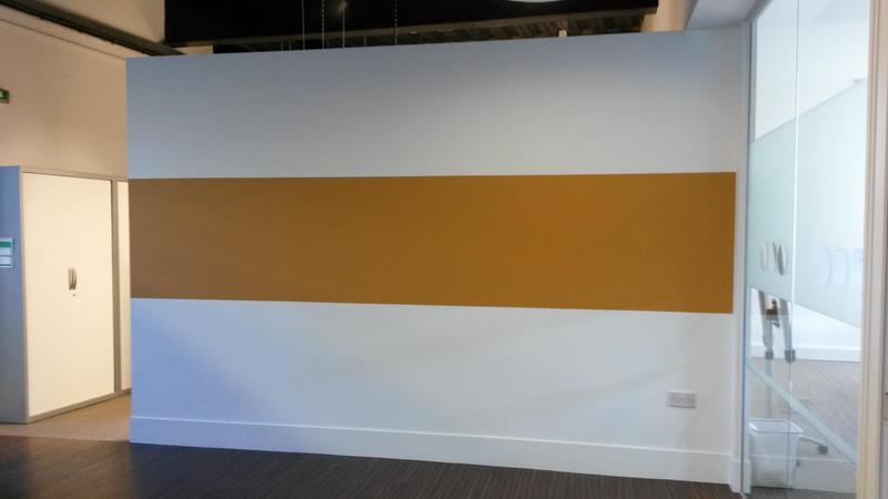 Image 99 - feature wall in Chessington stationery suppliers offices