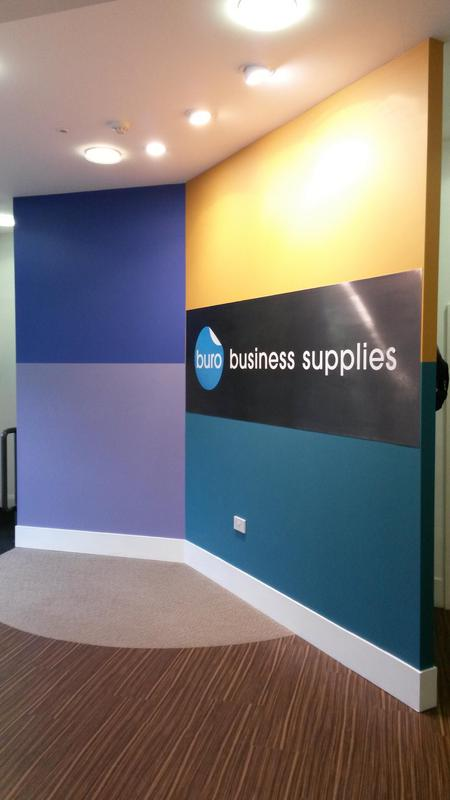 Image 101 - feature wall in Chessington stationery suppliers offices