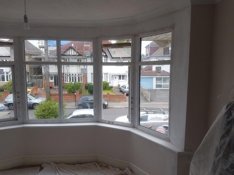 Image 83 - New bay window plaster/skim