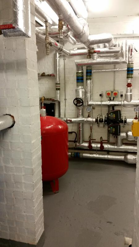 Image 9 - New plant room at a block of flats in Swiss Cottage London