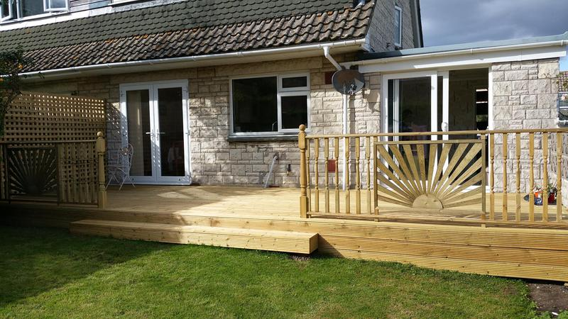 Image 106 - Decking with bespoke balustrade and handrail