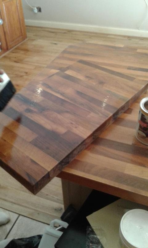 Image 3 - work top sanded and varnished
