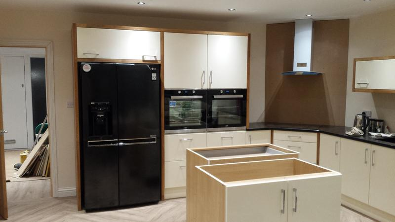 Image 19 - Custom made real wood fridge/freezer housing unit