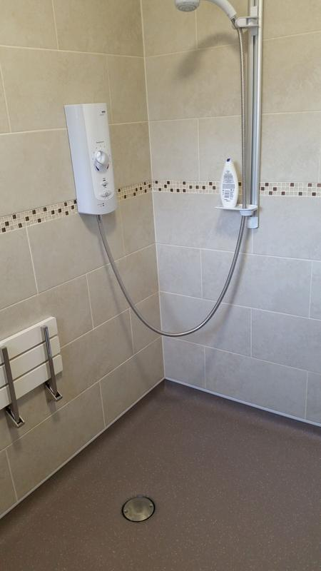 Image 16 - A full ground floor wet room extension fitted out to the clients particular needs.