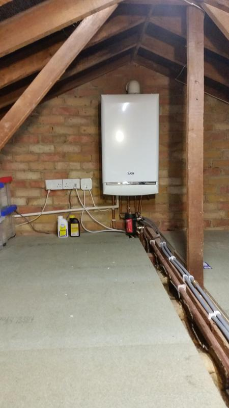 Image 4 - Baxi Combi install in loft