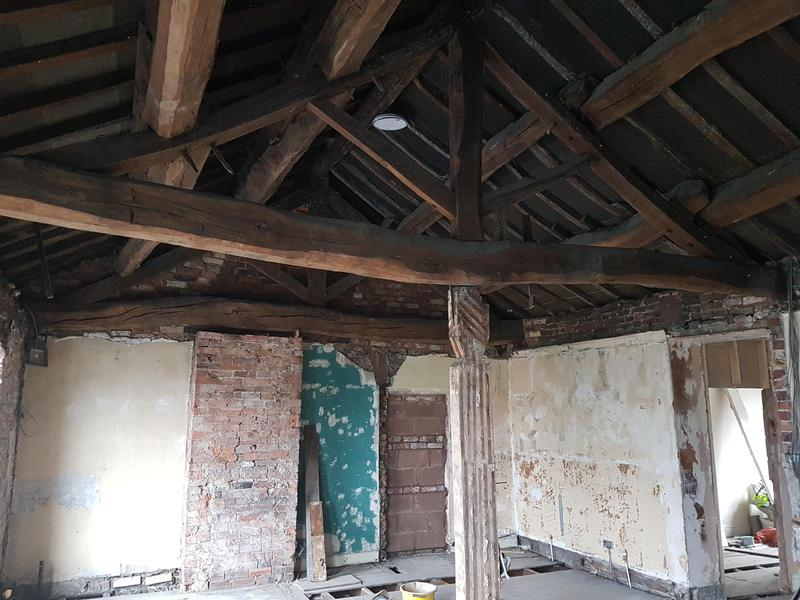 Image 22 - Exposed Timber Ceiling Prior To WOrks