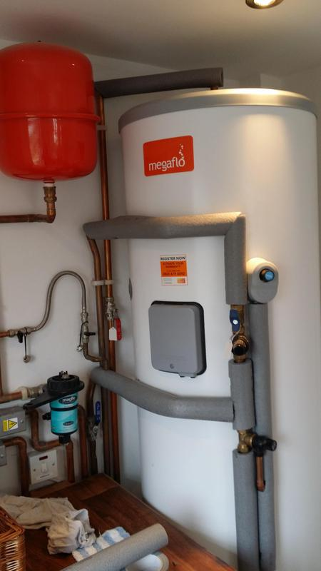 Image 44 - New boiler and Megaflo unvented cylinder supplied and fitted in new location of house to increase kitchen size