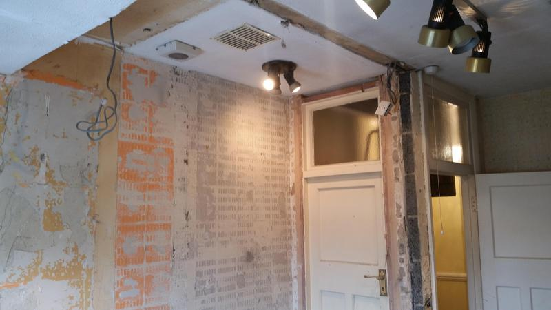 Image 81 - High end bathroom, removing dividing wall and creating walk in wet room shower