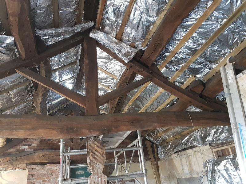 Image 19 - Exposed Timber Ceiling Insulation Works