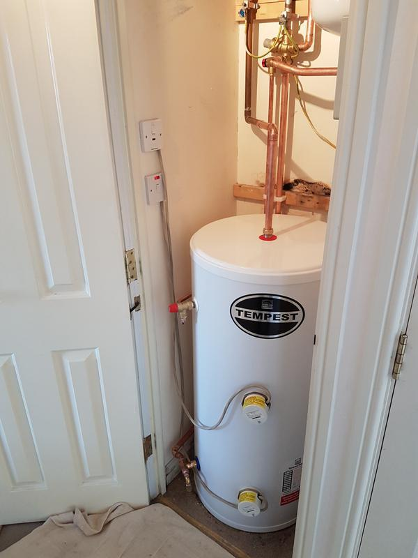 Image 27 - (After) new unvented cylinder fitted.