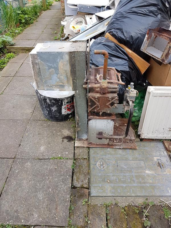 Image 30 - Old floor standing boiler removed from under kitchen worktop.