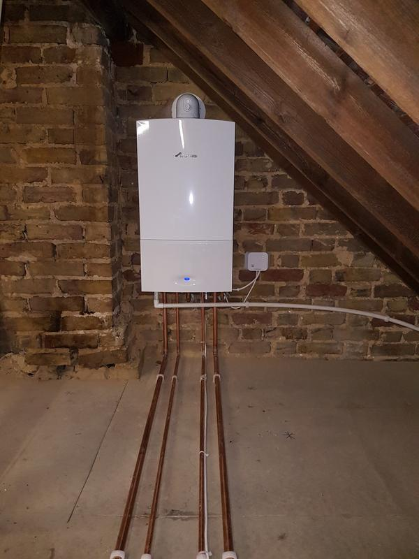 Image 21 - (During) New combi boiler installed in loft