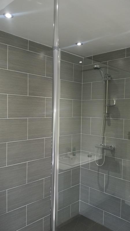 Image 73 - High end bathroom, removing dividing wall and creating walk in wet room shower