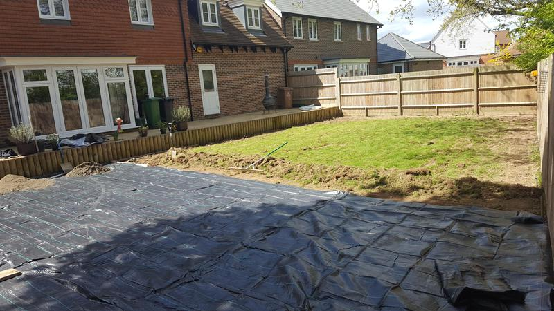 Image 38 - area prepared for 70m2 for new patio