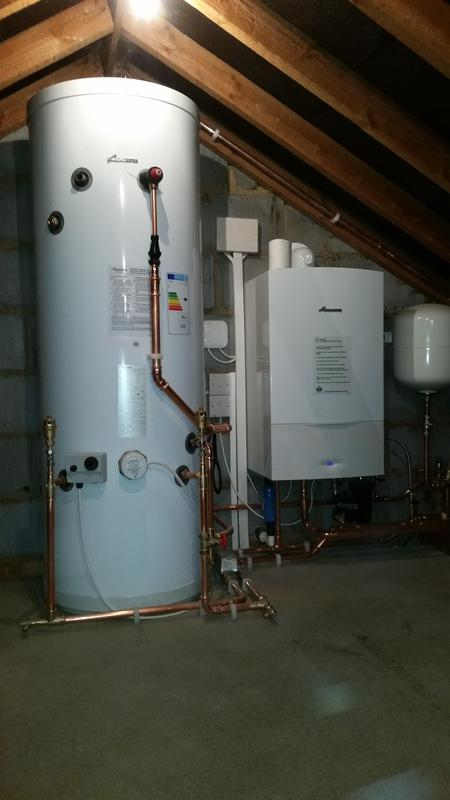 Image 89 - Worcester Bosch Boiler & Unvented cylinder installation in loft, included boarding out entire loft