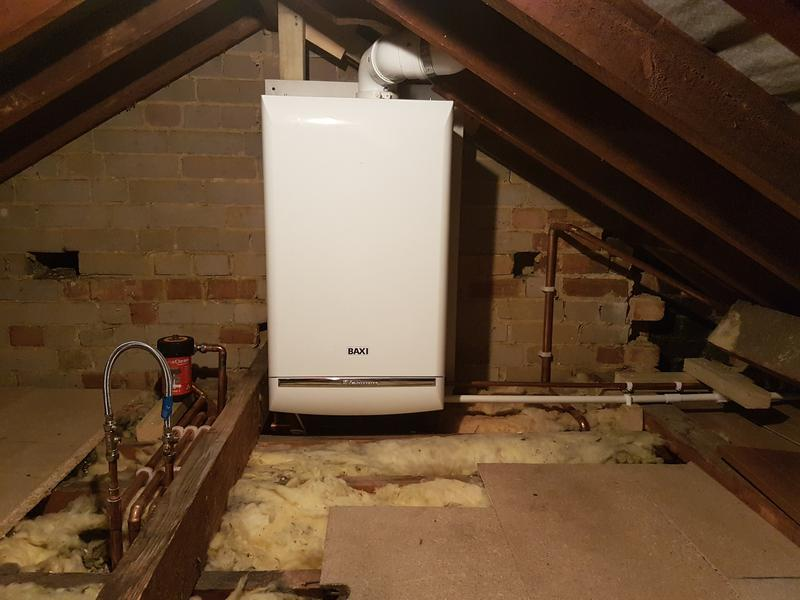 Image 38 - New combi boiler installed in loft.