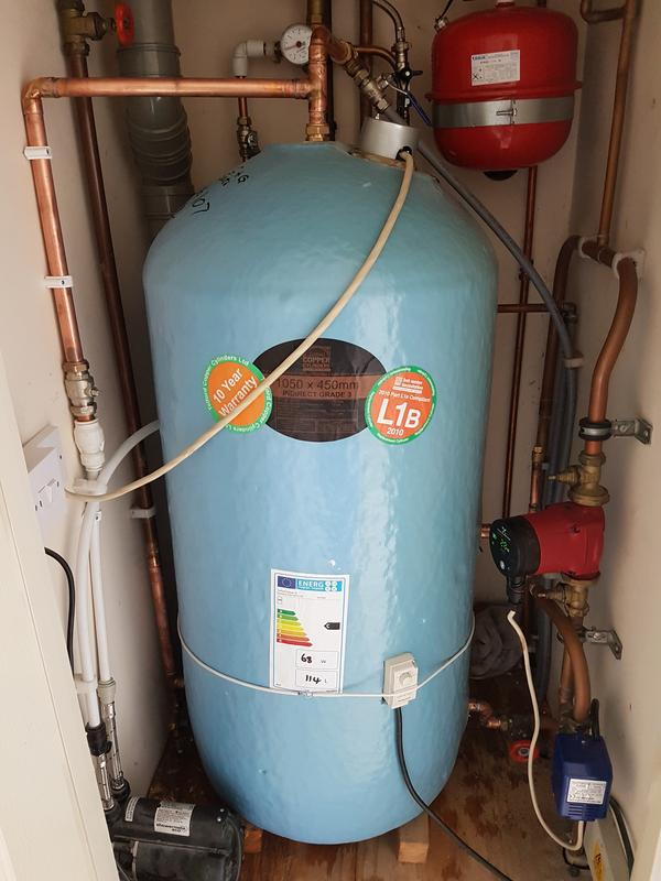 Image 37 - New hot water cylinder fitted.