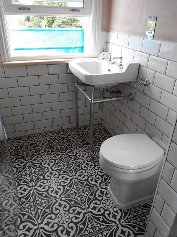 Image 9 - View of finished en-suite in loft conversion. Pre-decoration.