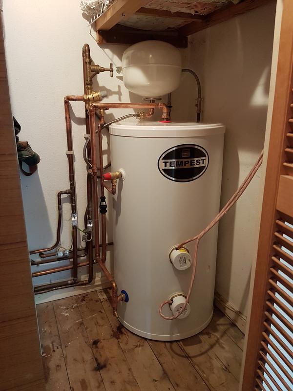 Image 43 - (After) New unvented cylinder fitted.