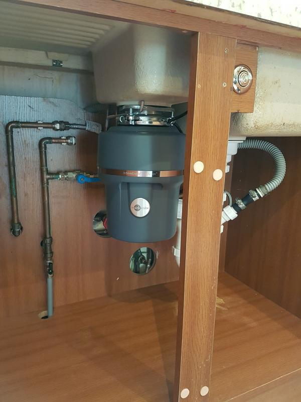 Image 35 - Water desposal unit installed