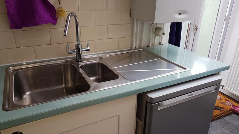 Image 3 - new sink and mixer tap.