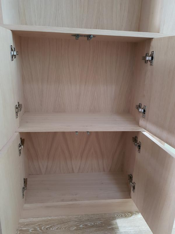 Image 99 - Oak book case with push catch doors